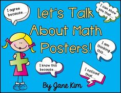 Number Talk Posters FREE by Kim's Creations | Teachers Pay Teachers Engage In Conversation, Number Talks, Math Talk, Math Poster, Math Journals, Free Math, Number Sense, Elementary Teacher, Let Them Talk