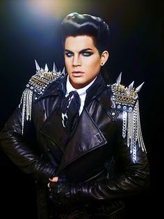Adam Lambert in the Blonds spiked jacket