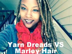 Marley Hair Vs Yarn Dreads When Doing Faux Locs  Read the article here - http://www.blackhairinformation.com/general-articles/hairstyles-general-articles/marley-hair-vs-yarn-dreads-faux-locs/ #fauxlocs #yarddreads #marleyhair