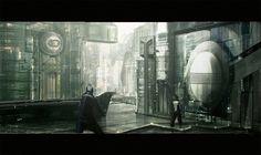 Futuristic city by Dragos Jieanu