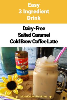 Dairy Free Salted Caramel Cold Brew Coffee Latte with Torani Salted Caramel Syrup This Dairy-Free Salted Caramel Cold Brew Coffee Latte is an easy, three-ingredient drink that so refreshing any time of the day! Salted Caramel Syrup Recipe, Healthy Summer Recipes, Delicious Recipes, Healthy Food, Flavored Milk, Dairy Free Recipes, Gluten Free, Coffee Latte, Cold Brew