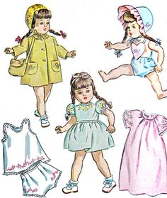 1940s Doll Clothes Pattern Simplicity 1809 Coat by paneenjerez, $20.00