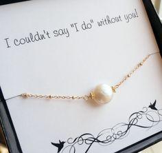 Bridesmaid Gifts Freshwater pearl bracelet Be my by BriguysGirls, $30.00