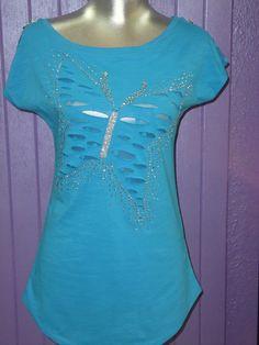 Camiseta azul mariposa €15.90