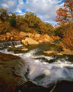 Waterfall at Pillsbury Crossing, Riley County, Kansas. James Nedresky photographer