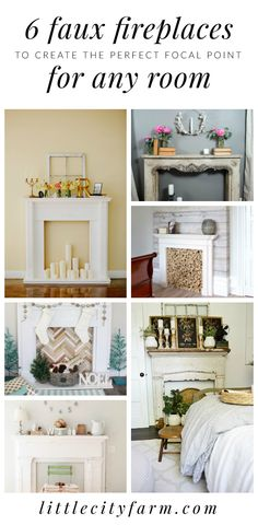 Want to up your farmhouse style home decor game? Check out these 6 gorgeous faux fireplaces to create the perfect focal point for ANY room!