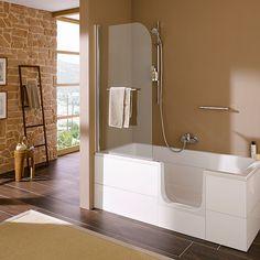 Duravit Shower + Bath Badewannne mit Duschzone, Eckeinbau