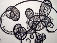Art & Potatoes: Go With the Flow Zentangle