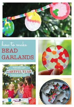 How to make melted bead suncatchers and garden garlands - so pretty!