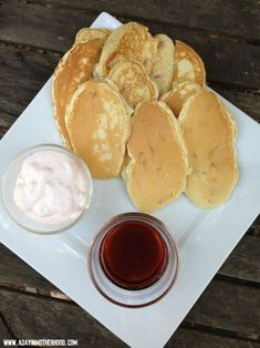 Strawberry Pancake Dippers with Strawberry Cream Dip
