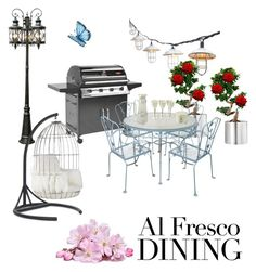 """""""Alfresco Dining"""" by ac-silver ❤ liked on Polyvore featuring interior, interiors, interior design, home, home decor, interior decorating, Trans Globe Lighting, Mitchell Gold + Bob Williams and CO"""