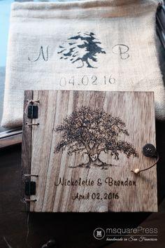 Rustic Oak Tree Wedding Guest Book