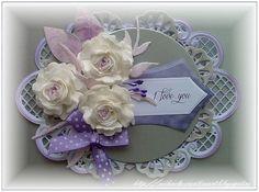 Handmade by Mihaela: Purple , gray and white