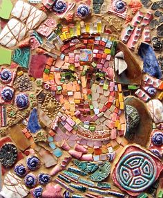 Exhibitions at Institute of Mosaic Art. Gallery shows of IMA professional and student mosaic work. Mosaic Wall Art, Mosaic Glass, Mosaic Tiles, Stained Glass, Mosaic Crafts, Mosaic Projects, Art And Craft, Diy And Crafts, Yellow Hibiscus