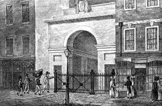 """""""Burking."""" The process of killing poor people and selling their bodies for medical study in 19th century London. (The body is in the basket on the man's shoulder). Occasionally the medical men they delivered too would perceive the body as being too fresh (never buried...grave robbing was one thing, murder another) and alert authorities."""