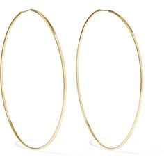 Magda Butrym Gold-plated silver hoop earrings (€305) ❤ liked on Polyvore featuring jewelry, earrings, square earrings, gold plated silver earrings, silver gold plated jewellery, hoop earrings and earring jewelry