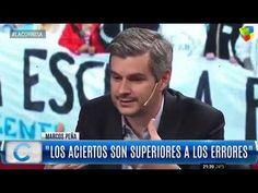 """Marcos Peña mano a mano con Luis Majul: """"Hoy la Argentina está en paz"""" Frames, Peace, Argentina"""