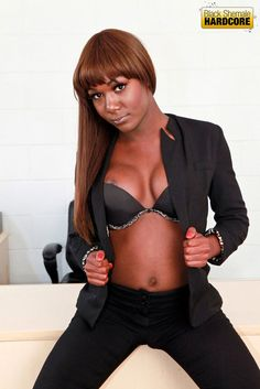 Hot black shemale China with awesome sexy body.