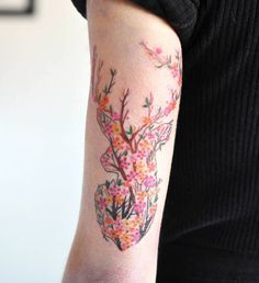 Floral stag by Wolf & Wren