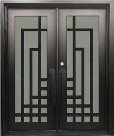 ideas for metal door gate wrought iron Wooden Window Design, Window Grill Design Modern, Grill Door Design, Front Door Design, Door Grill, Steel Gate Design, Iron Gate Design, Modern Entrance Door, Entrance Doors