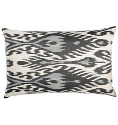 Silk Kava Down-Filled Ikat Pillow  bcc6868e632