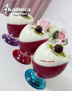 İki Renkli Sütlü Tatlı Tarifiiki ren