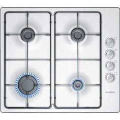 SIEMENS - EB615PB80E _ Table de cuisson Gaz - 4 brûleurs dont 1 foyer rapide 3 kW - Allumage intégré aux manettes - Sécurité gaz par thermocouple - Grilles émaillées - Finition inox.