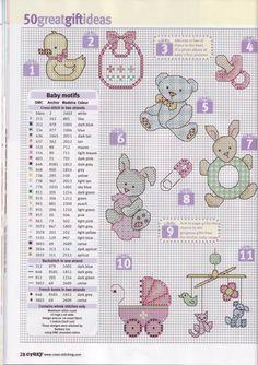 baby small cross stitch chart free