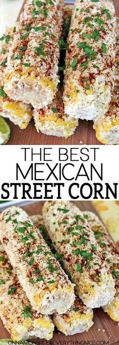 The Best Mexican Street Corn Vegetable flower dec. The Best Mexican Street Corn Corn Recipes, Side Dish Recipes, Great Recipes, Favorite Recipes, Chicken Recipes, Dessert Halloween, Desserts Nutella, Mexican Dishes, Mexican Drinks