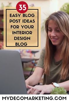 Are you stuck for ideas for your interior design blog? How would you like 35 instant ideas from an experienced interiors blogger that you can write about today #interiordesign #interiorsblog #mydecomarketing Interior Blogs, Best Interior, Luxury Interior, What To Write About, Interior Design Business, Design Blogs, Content Marketing Strategy, Decorating Blogs, Social Media Tips