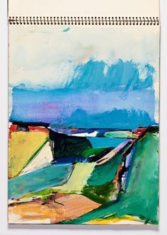 """Sketchbook Drawing Richard Diebenkorn, """"Untitled"""" from Sketchbook Richard Diebenkorn, Landscape Art, Landscape Paintings, Abstract Expressionism, Abstract Art, Bay Area Figurative Movement, Artist Sketchbook, Gifts For An Artist, Guache"""