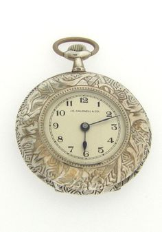 Antique Swiss sterling silver pocket watch, circa 1900