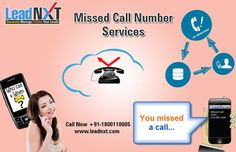 LeadNXT, is a cloud-based telephony service provider, that lets you create quick lead generation through Missed Call Alert services