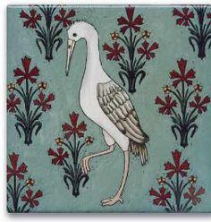 Crane tile | Wildflower Graphics