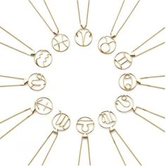 Karen Walker Aquarius  Star Sign Necklace KWAQN-Christies Jewellery New Zealand's Silver Jeweller
