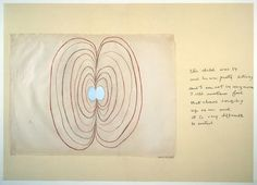 """Louise Bourgeois, Sublimation, 2002 – mixed media book of 15 pages, each 104,6 x 147,7 cm – """"this child was 14 / and he was pretty strong / and I am not 14 anymore / I still sometimes feel / that chaos surging / up on me and / it is very difficult / to control"""""""