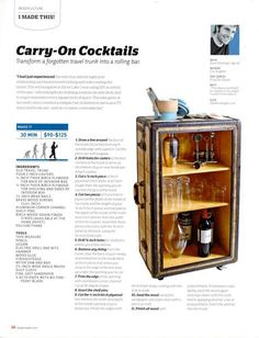 DIY Trunk to Rolling Bar Project — ReadyMade Online