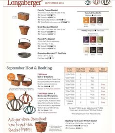 Friday September Month End! www.longaberger.com/joanrhoads 24/7 all products and especially homestead online at 25% off!