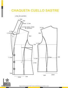 Manual-de-Patronaje-Basico-e-Interpretacion-de-Disenos – modelist kitapları Blazer Pattern, Collar Pattern, Jacket Pattern, Coat Patterns, Dress Sewing Patterns, Clothing Patterns, Skirt Patterns, Blouse Patterns, Pattern Cutting
