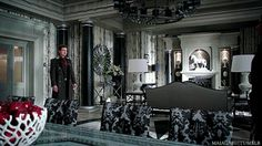 Day 27: favorite location/ set- I really like Regina's office. The look of it is really cool and its all black and whit except for the apples. I want my future office to look like this.