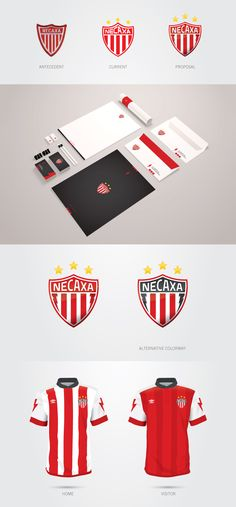 Necaxa Soccer Team Rebrand. Exercise just for fun