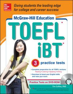 McGraw-Hill Education TOEFL iBT with 3 Practice Tests and DVD-ROM by Tim Collins
