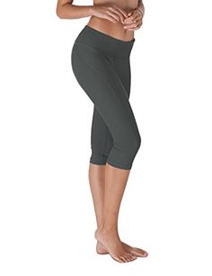 Yoga Reflex  Yoga Capris for Women  Workout Capri Pants With Hidden Pocket XS2XL  Charcoal  XLarge * Want additional info? Click on the image.