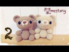 ▶ How to crochet a Amigurumi bear 2/6 くまのあみぐるみの編み方[胴] - YouTube