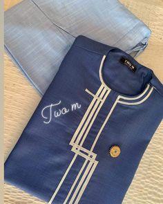 Blue shirt African Wear Styles For Men, African Shirts For Men, African Dresses Men, African Clothing For Men, Latest African Fashion Dresses, African Attire For Men, Nigerian Men Fashion, Indian Men Fashion, Mens Fashion Wear
