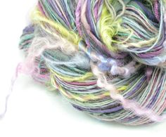 Tailspun Yarn Handspun Yarn Textured Yarn by TheSavvyStitch