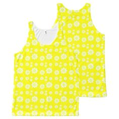 cheerful floral All-Over print tank top Tank Tops