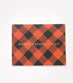 Plaid Fathers Day Card