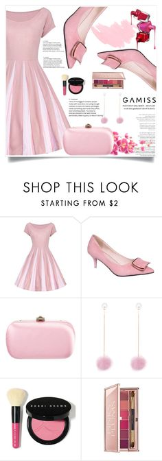 """Pink Lady!"" by zenabezimena ❤ liked on Polyvore featuring Gucci, Bobbi Brown Cosmetics, Estée Lauder and vintage"
