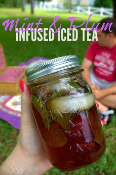 Mint & Plum Infused Iced Tea | 23 Refreshing Summer Drinks That Will Help You Kick Your Soda Habit